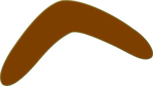 australian boomerang template - aussie brown boomerang clip art at vector clip