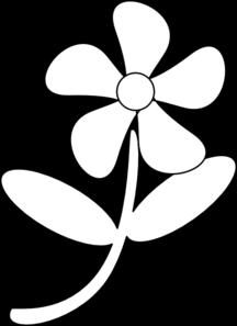 Black White Flower Clip Art at Clker.com - vector clip art ...