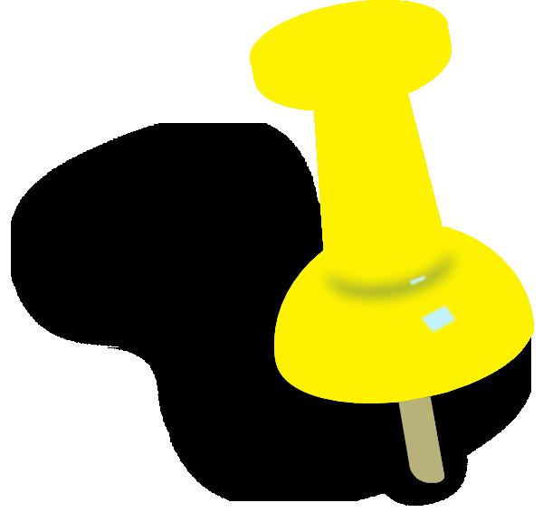 Yellowish Orange Push Pin Clip Art at Clker.com - vector ...