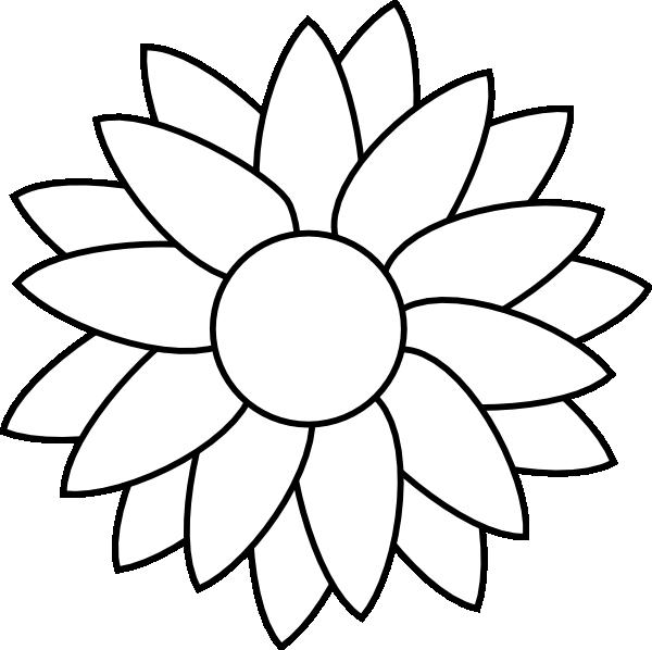 Black Flower 3 Clip Art At Clker Com: Sun Flower Template Clip Art At Clker.com