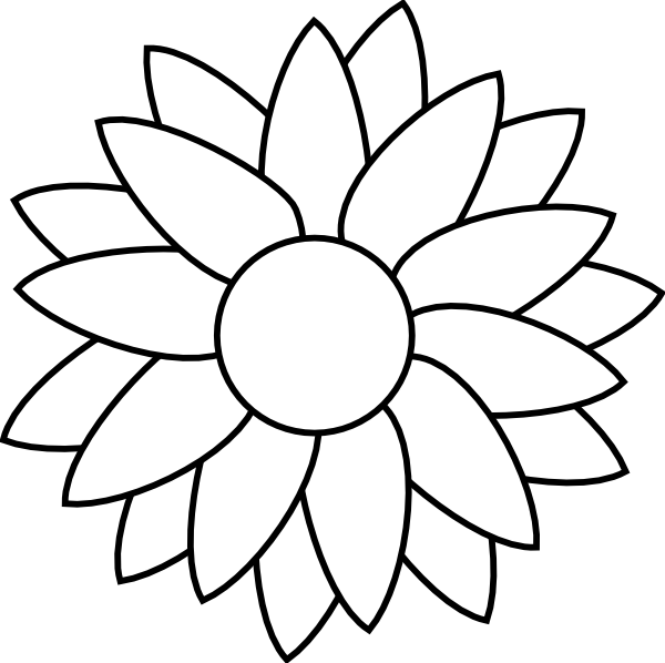 Sun flower template clip art at clkercom vector clip art online royalty free public domain for Free flower templates