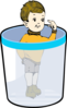 Boy In A Bin Clip Art