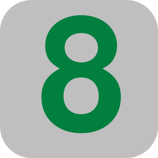 Number 8 Grey Flat Icon Clip Art At Clker Com