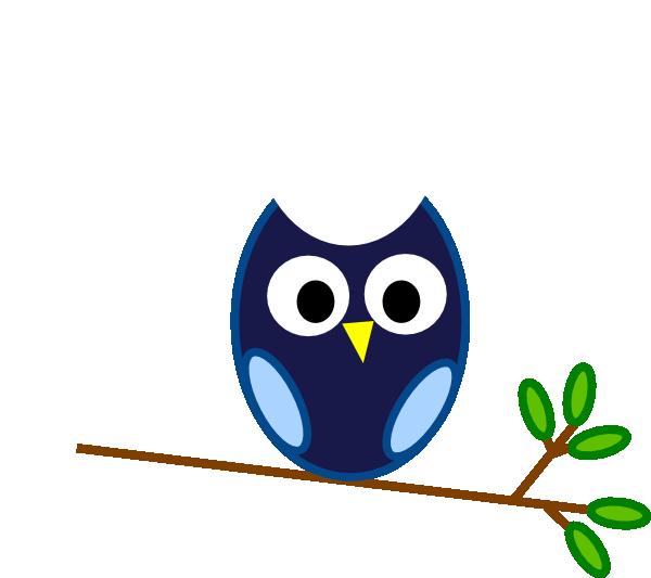 blue owl branch clip art at clker com vector clip art online rh clker com owl on tree branch clip art owl on branch clip art free