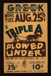 Triple A Plowed Under  Clip Art
