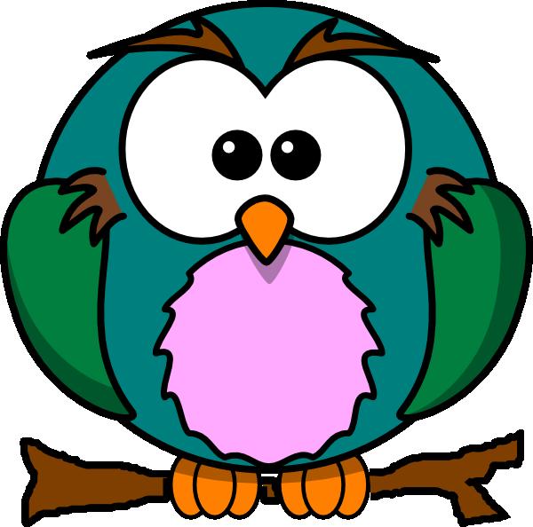 Cute Owl On Branch Clip Art at Clker.com - vector clip art ...