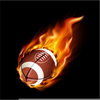 Free Flaming Football Clipart Image