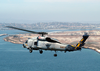 A Sh-60 Seahawk Passes By Naval Air Station North Island During A Routine Training Flight. Image