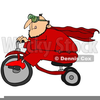 Man Riding Tricycle Clipart Image