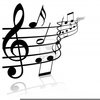 Black And White Music Notes Clipart Image
