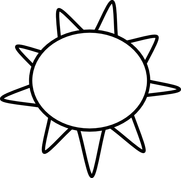 Line Drawing Sun Vector : Sun outline clip art at clker vector online