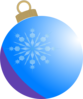 Blue Christmas Ball Ornament Clip Art