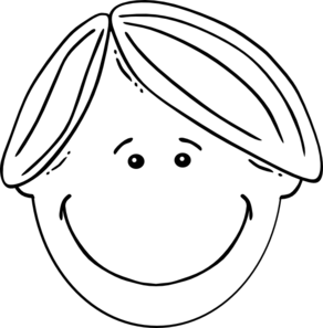 Clipart Boy Black White on dummy