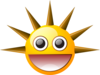 Smiley With Spikes Clip Art
