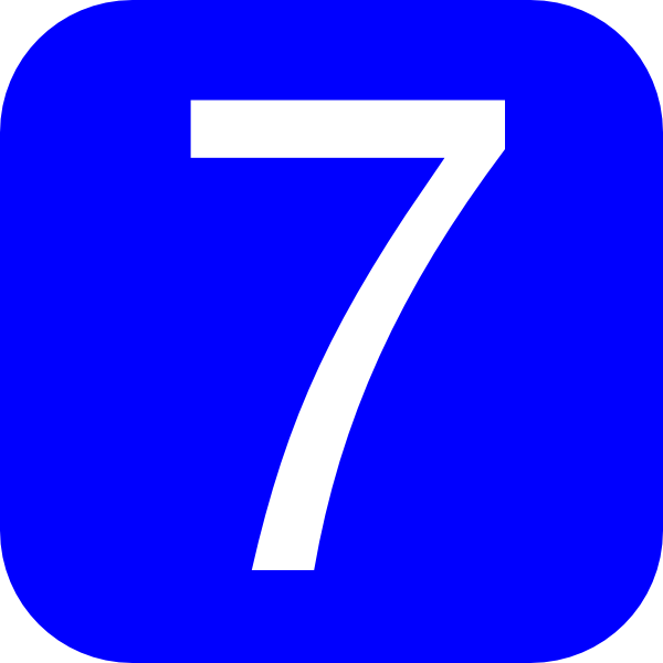 Blue  Rounded  Square With Number 7 Clip Art At Clker Com