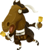 Inhabitants Npc Forehorseman Clip Art
