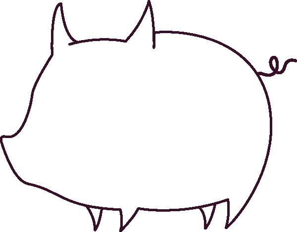pig outline clip art at clker - vector clip art online