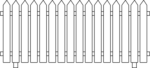 White Picket Fence Clip Art At Clker Com Vector Clip Art