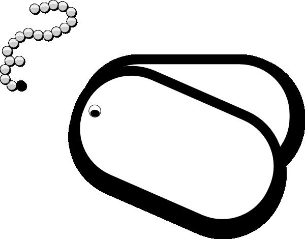 dog tags clip art at clker - vector clip art online, royalty