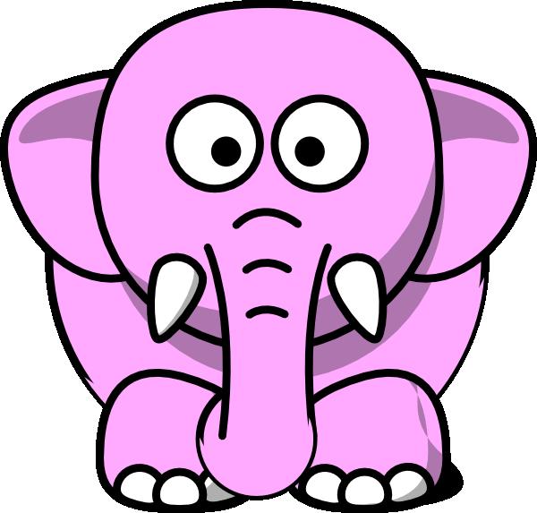 Little Pink Elephant Clip Art - Free Clip Art |Cartoon Baby Elephant Pink
