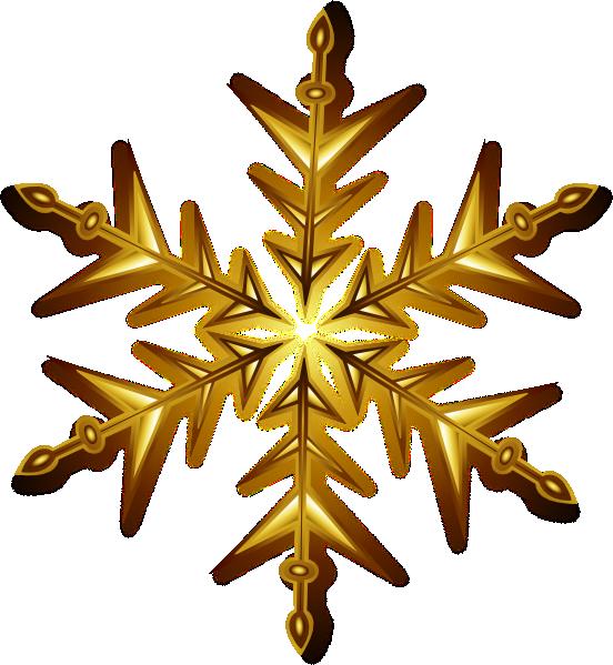 Gold Snowflake Clip Art at Clker.com - vector clip art ...