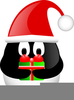 Flamingo With Santa Hat Clipart Image