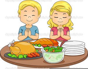 Kids Eating Clipart Image