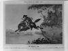 Heroic Cowboy Jump With Horse Image