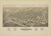 Perspective Map Of Texarkana, Texas And Arkansas Image