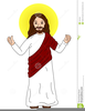 Jesus In The Wilderness Clipart Image