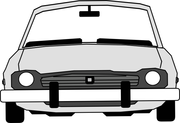 Car Front View With Extended Windshield Clip Art At Clker