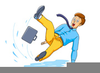 Clipart Of Person Slipping On Ice Image