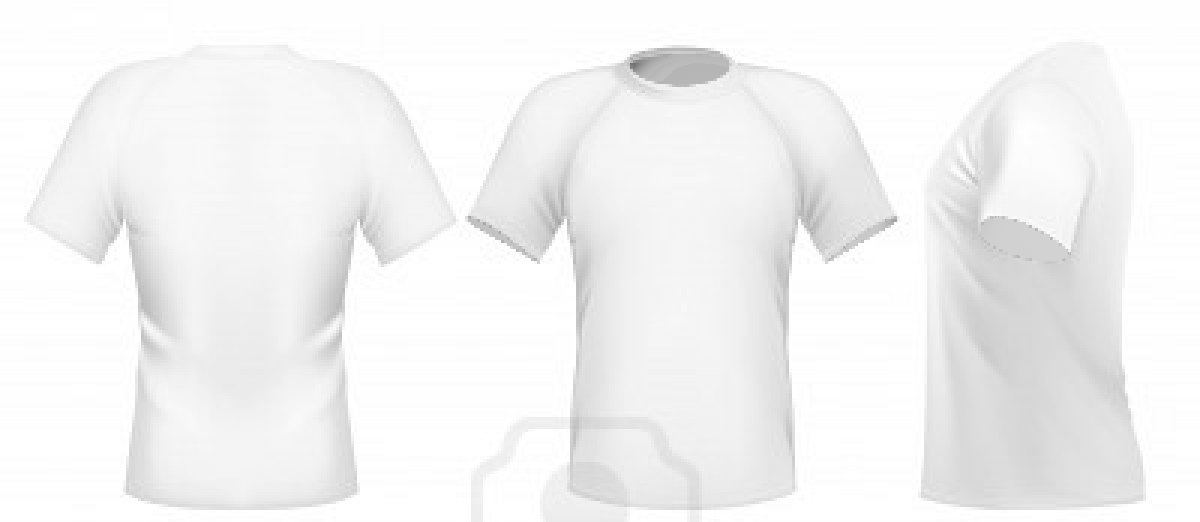 Vector illustration men s t shirt design template front back and side view free images at for Front and back t shirt template