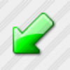 Icon Arrow Down Left Green 3 Image