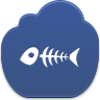 Fish Skeleton Icon Image