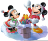 Disney Clipart Christmas Mickey Minnie Mouse Christmas Chimney Image