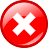 Red Round Error Warning Icon Clip Art