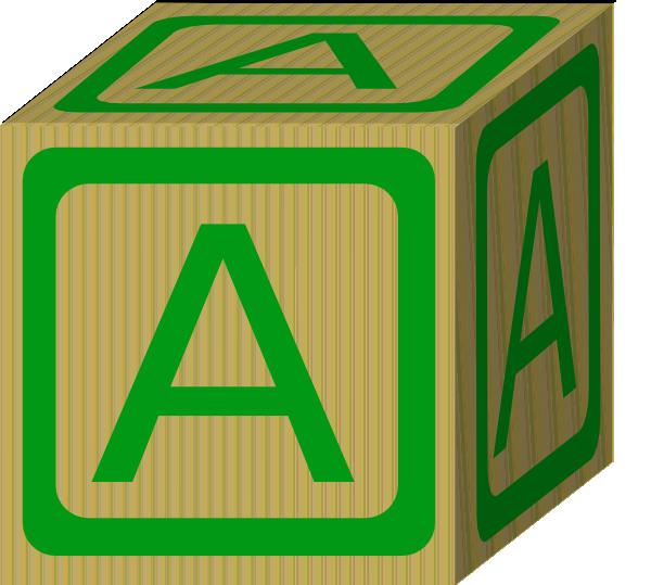 Alphabet Block A Clip Art At Clker Com