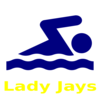 Swimmer Lady Jays Clip Art