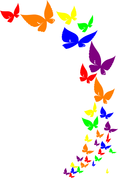 rainbow butterfly clip art at clker com