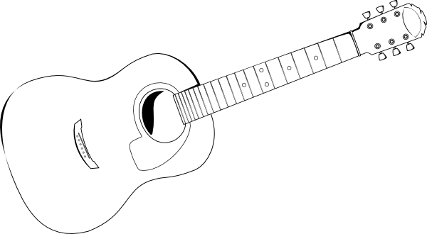 Breathtaking image with guitar printable