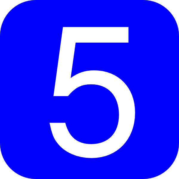 Blue  Rounded  Square With Number 5 Clip Art At Clker Com