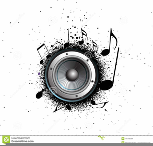 Music Speakers Clipart Image