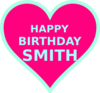 Smith Bday7 Clip Art