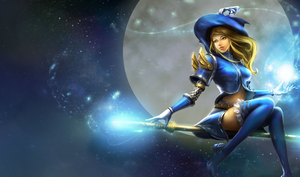 Lux Splash Moon League Of Legends Wallpaper Image