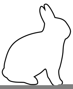 Easter bunny outline. Clipart free images at