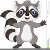 Animated Raccoon Clipart Image