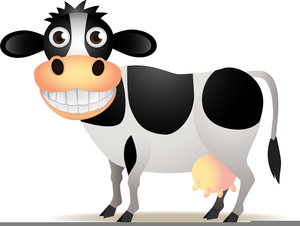 Clipart Cow Funny Image