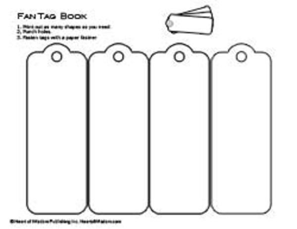 tag fan book template