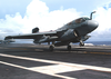 An Ea-6b Prowler Assigned To The Shadow Hawks Of Electronic Attack Squadron One Forty One (vaq-141) Makes A Touch-and-go On The Flight Deck Aboard Uss Theodore Roosevelt (cvn-71) Image